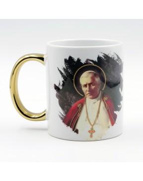 Kubek Pius X złocony