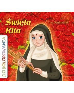 Święta Rita kolorowanka