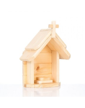 Kapliczka drewniana jasna -...