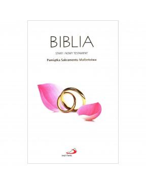 Biblia Pamiątka Ślubu